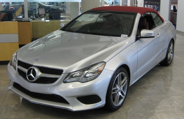 E350 red top convertible