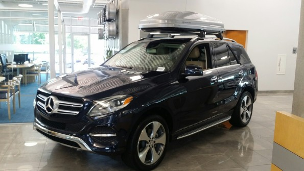 Mercedes GLE with roof rack