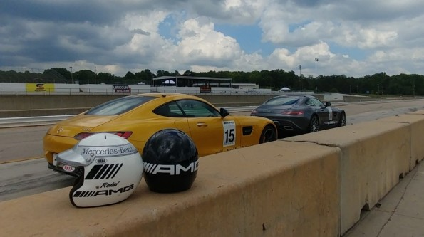 Mercedes AMG at the track
