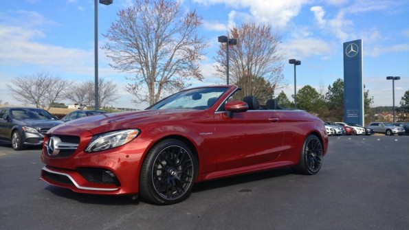 2017 Mercedes C63 AMG Cardinal Red black wheels