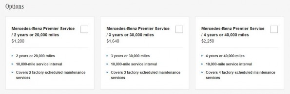Mercedes Pre-Paid Maintenance